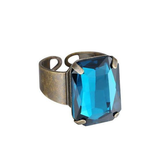 eManco Opal Kristall einstellbar ge?ffneter Ring f¨¹r Frauen Gold ¨¹berzogenes Kupfer Statement Ringe (): Amazon.de: Schmuck