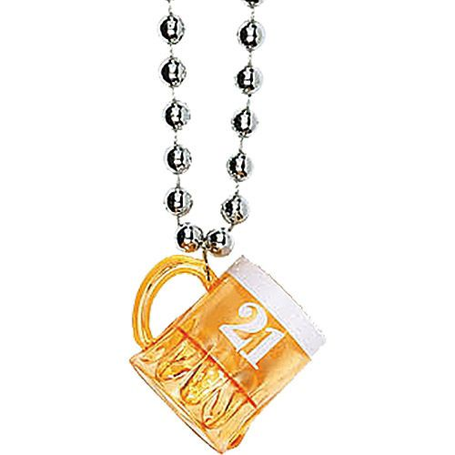 Beer Mug 21st Birthday Shot Glass Necklace Party City Beer Birthday 21st Birthday Birthday Shots