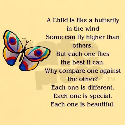 a child is like a butterfly...