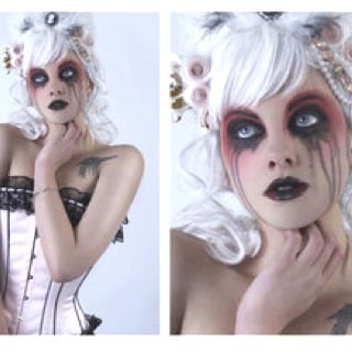 Kyndel wants to be a zombie bride... I think I could totally rock this makeup on her!