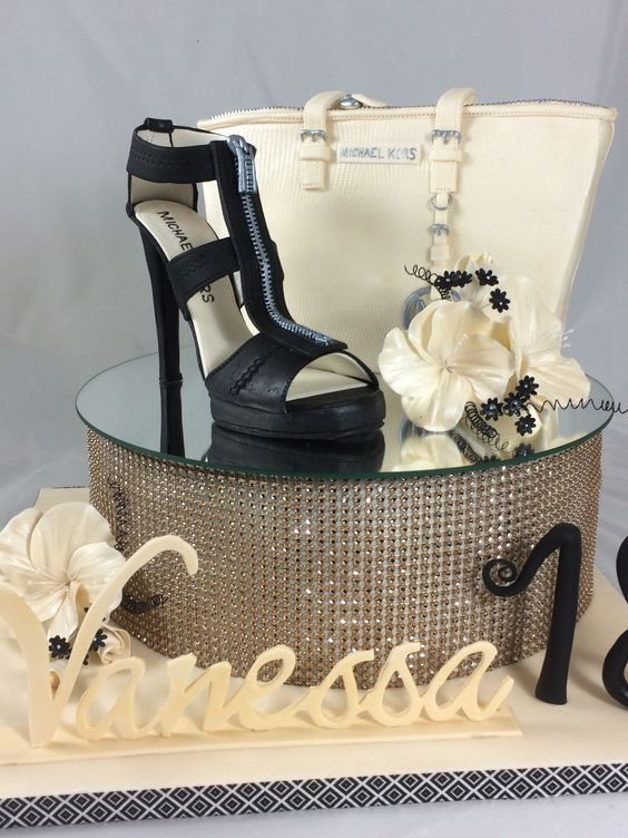 High Heel Cake Fashion Michael Kors Tasche Schuhe Torte Cake