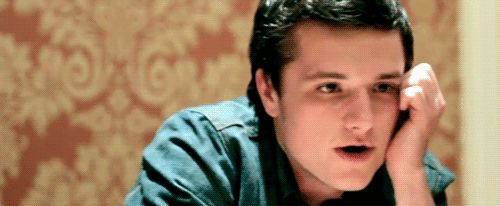 OMG. This Josh Hutcherson GIF is perfection, and I'm pretty sure I'm melting now.