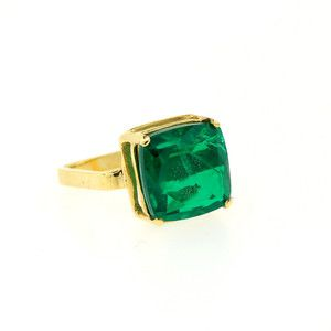 Cushion Cut Green Quartz Ring, $160, now featured on Fab.