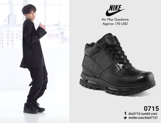 (Requested) 190421 | Jungkook : Boy With Luv Dance Practice NIKE - Air max goadome // (x) (x)