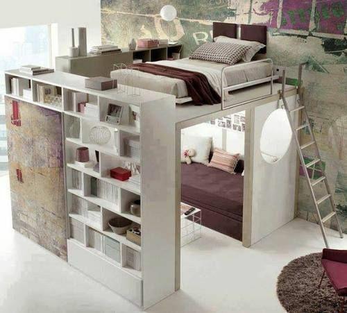 Jugendzimmer einrichtungsideen  jugendzimmer einrichten ideen zimmer im zimmer gestalten hochbett ...