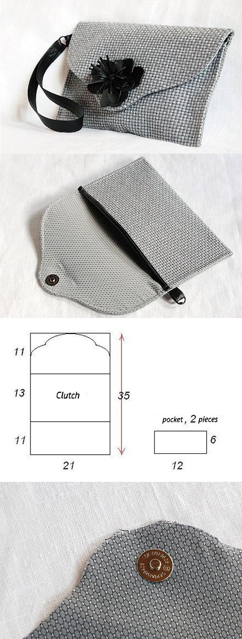 How to easy sew a nice small clutch bag? You can see it here http://fastmade.blogspot.com/2016/02/simple-tutorial-for-small-pretty-bag.html