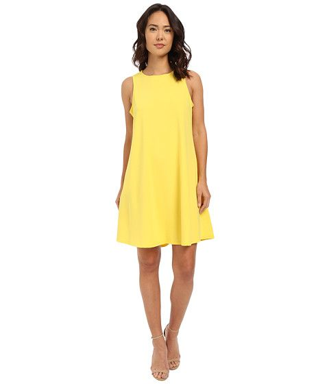 Christin Michaels Sunrise Trapeze Dress Yellow - 6pm.com