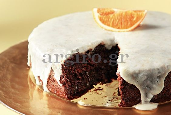 νηστισιμη πορτοκαλοπιτα με κακαο και καρυδια