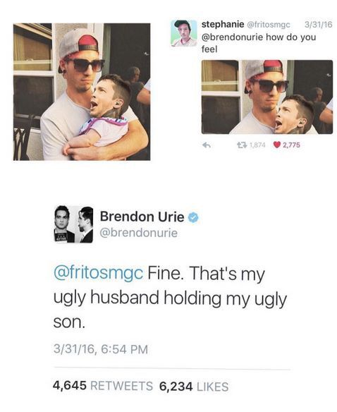 poor Brendon. life must be hard for the visually impaired.