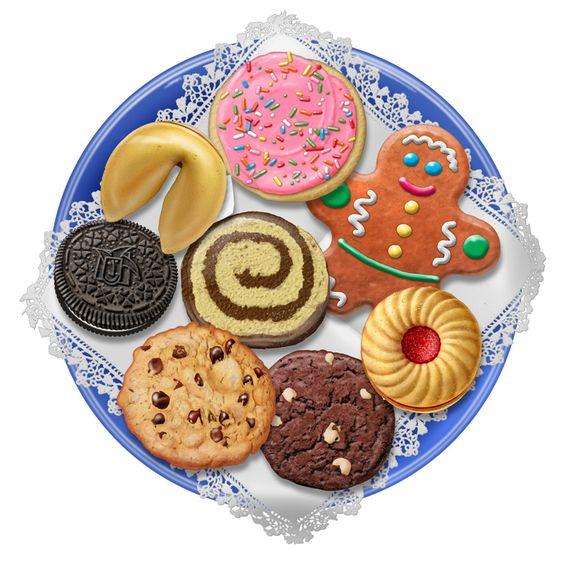 Christmas Cookie Platter Clip Art | Plate Of Christmas ...