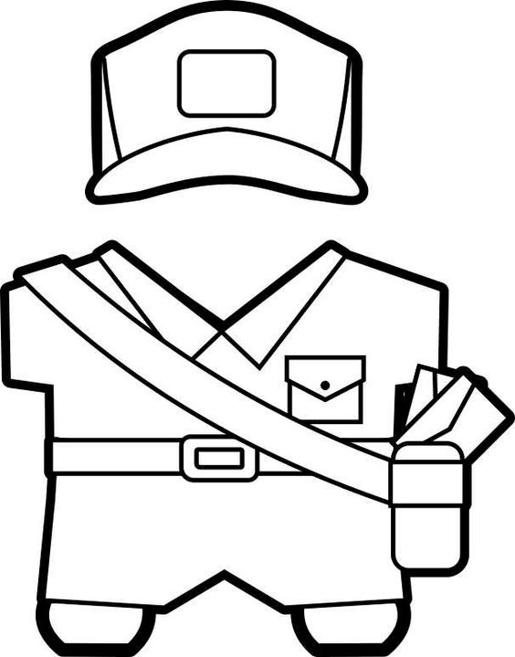community helpers coloring pages for toddlers - printable community helpers buddies paper dolls daisy