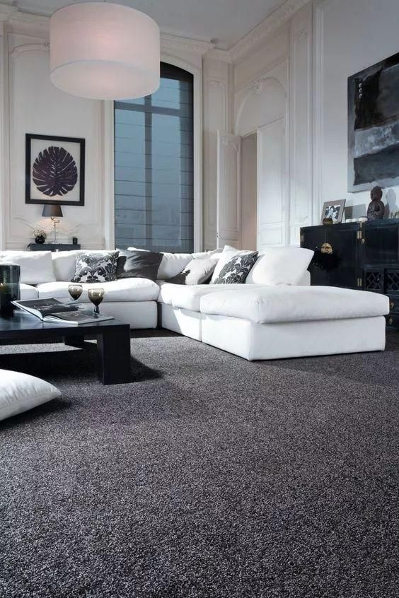 46 Best Carpet Flooring Ideas Page 46 Of 46 Lovein Home Grey Carpet Living Room White Living Room Decor Sophisticated Living Rooms