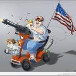 caricature de l'Américain