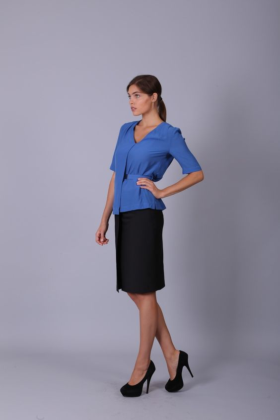 #Blue + #White = #Colorful #Outfit #for #business #lady #vilonnausa