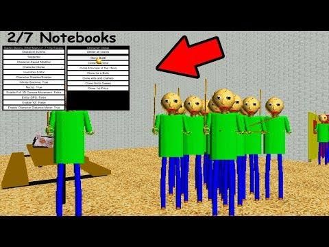 Cheat Menu Mod Baldis Basics In Education And Learning Hack