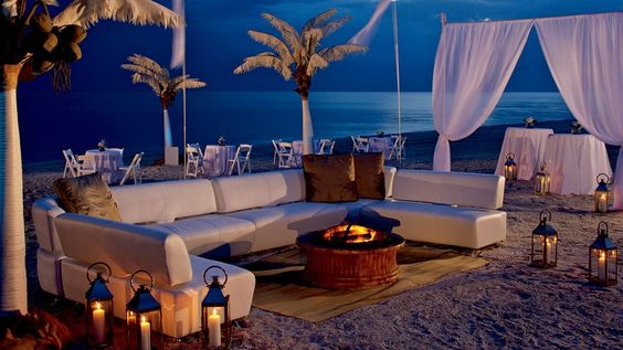 Fire on the beach -The Ritz-Carlton, Naples, Naples,  Florida #SunSandSea