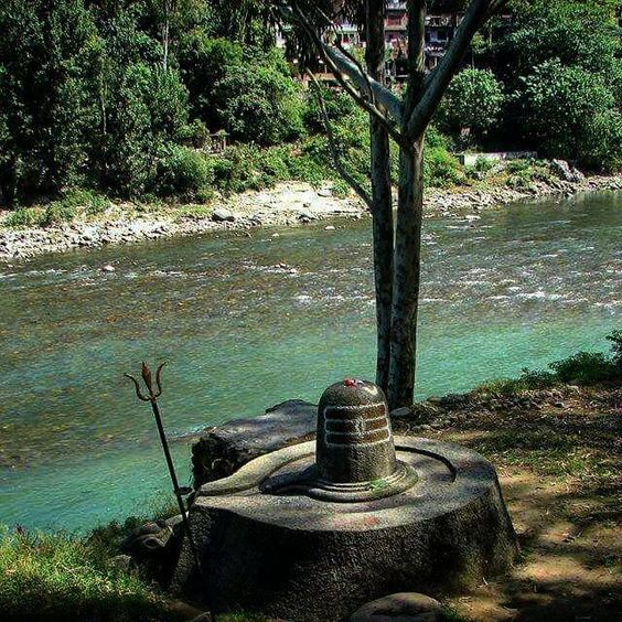 A Beautiful ShivLing somewhere in Mandi District of Himachal Pradesh a Heavenly Himalayan State of North India.. (A Shivling is a Significance of Lord/Bhagwan Shiva's Nirakaar { Shapeless } and Universal Form.. It's also Represent Bhagwan Shiv and His Better Half Goddess Parvati also known as Durga.. Aadishakti.. Bhagwati.. Gauri... Kali and many more names according to the love and devotion of her devotees.. !! A Shivling also represent Brahma.. Vishnu and Mahesh ( Shiv )  Om Namah Shivay.. ...