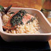 Easy Pesto Salmon!    #HealthyPage