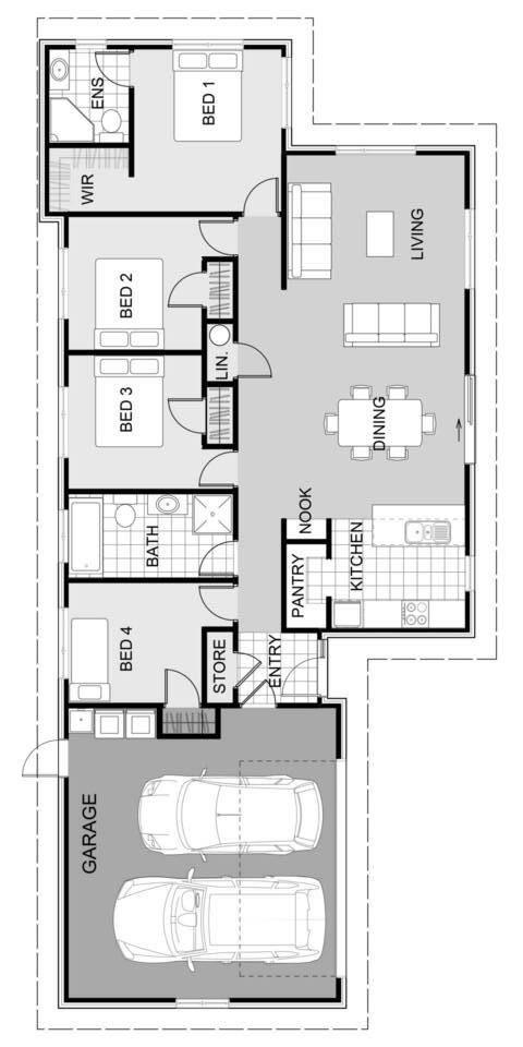 Kakariki 169m2 Smartcollection House Plans Open Plan Living Floor Plans