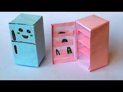 صنع أشياء بالورق كيف تصنع ثلاجة بالورق الملون Container Takeout Container