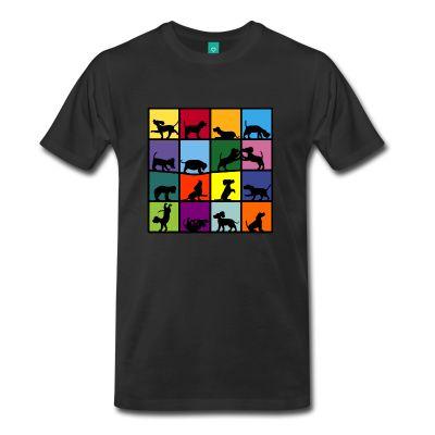 Beagles - Men's T-Shirt - Men's Premium T-Shirt / Funny Cool And Awsome Tshirts / 3XL 4XL 5XL Big And Tall Tees / teessauce.com