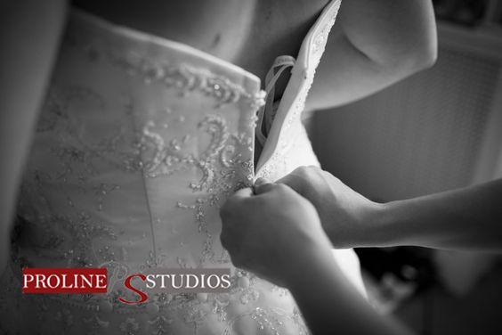 Putting Wedding Dress On
