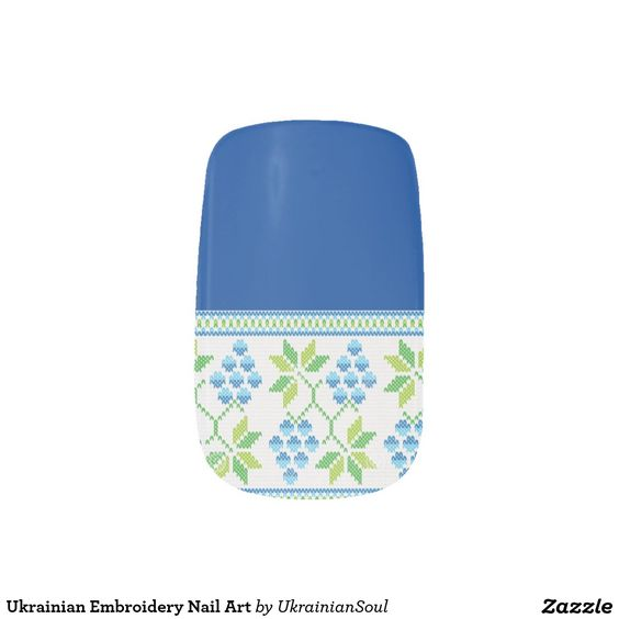 CLICK ON MINX TO PURCHASE. Ukrainian Embroidery Nail Art available for purchase.  Minx® Nail Art