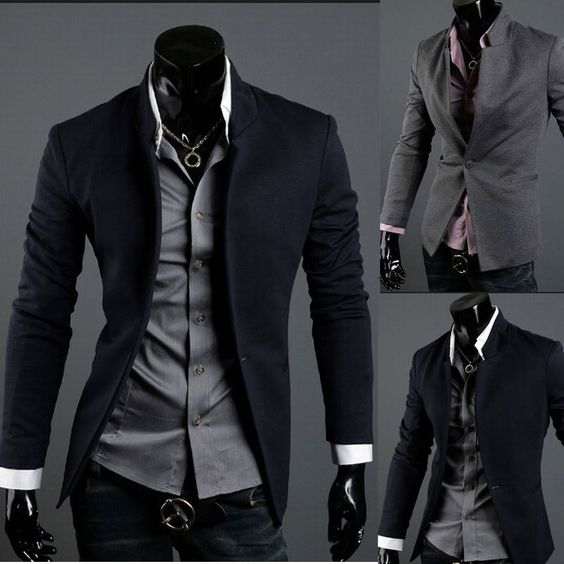Mens Casual Top Design Sexy Slim Fit Blazers Coats Suit Jackets XS