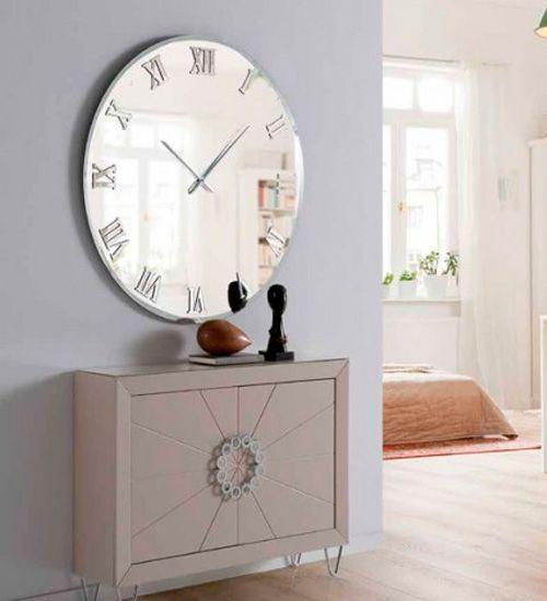 Espejo Moderno Reloj Murano Relojes Decorativos De Pared Relojes De Pared Originales Decoracion De Interiores