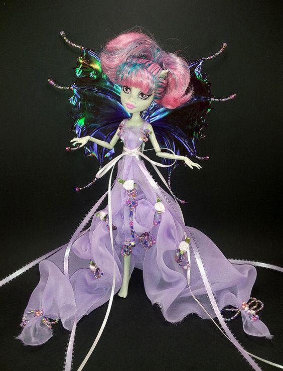 RESERVED//Custom Monster Fairy Dress with by MonsterHighDressUp, $35.00