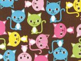 Ann Kelle Urban Zoologie, Cats Spring Fabric - By