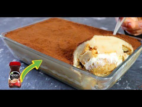 حلي النسكافيه البارد سهل وسريع ولذيييذ وبدون فرن حلي مميز جدا لكل عشاق النسكافيه Youtube Dessert Cake Recipes Cake Desserts Baked Desserts Cakes