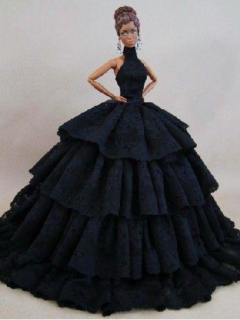 Resultado de imagen para como hacer vestidos para barbies de gala