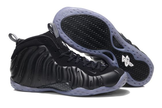 "Nike Air Foampositee ""Stealth"" Black White"