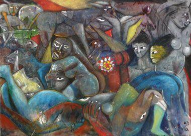 1997  PROVENANCE  Northern German collection  SIZE  175 x 125 cm  TITLE  untitled  ARTIST  Valente Malangatana
