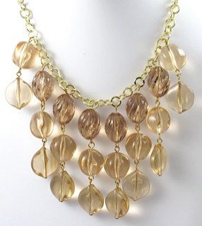Smokey Topaz Lucite Necklace by TashaHussey on Etsy, $72.00