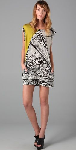 yellow print dress: