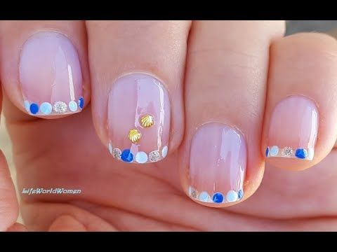 Dotticure French Manicure Blue Summer Nail Tips Youtube In 2020 Nail Tutorial Videos French Manicure Manicure