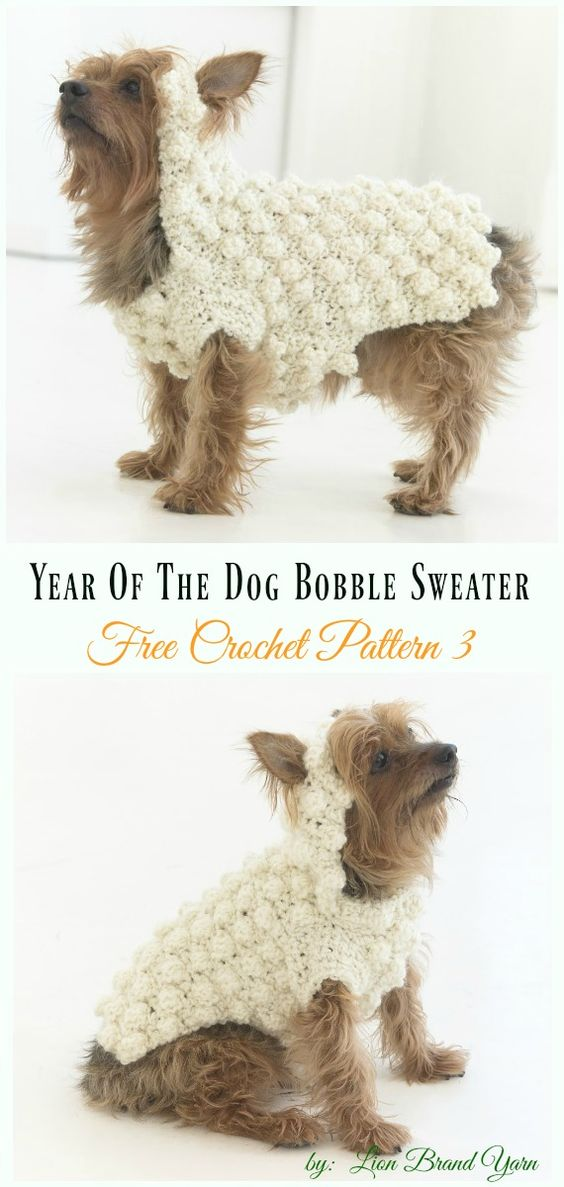 Year Of The Dog Bobble SweaterCrochet Free Pattern - #Dog; #Sweater; #Crochet; Free Patterns