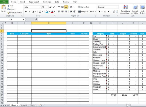 Daily Expenses Tracker Excel Template Free Download Excel - accounting forms in excel