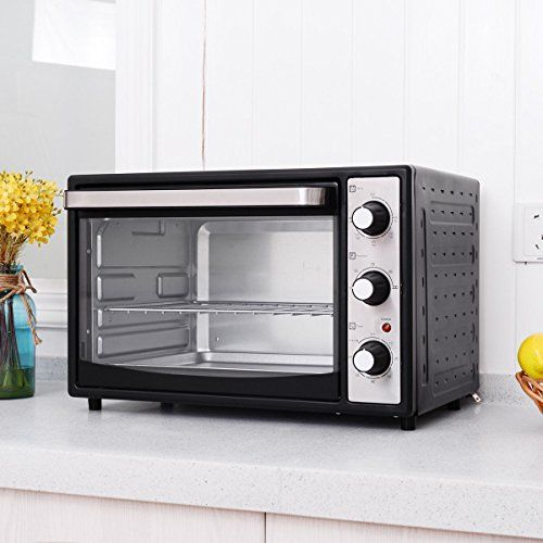 Costway 6slice 32l Countertop Toaster Oven Broiler With Drip Pan