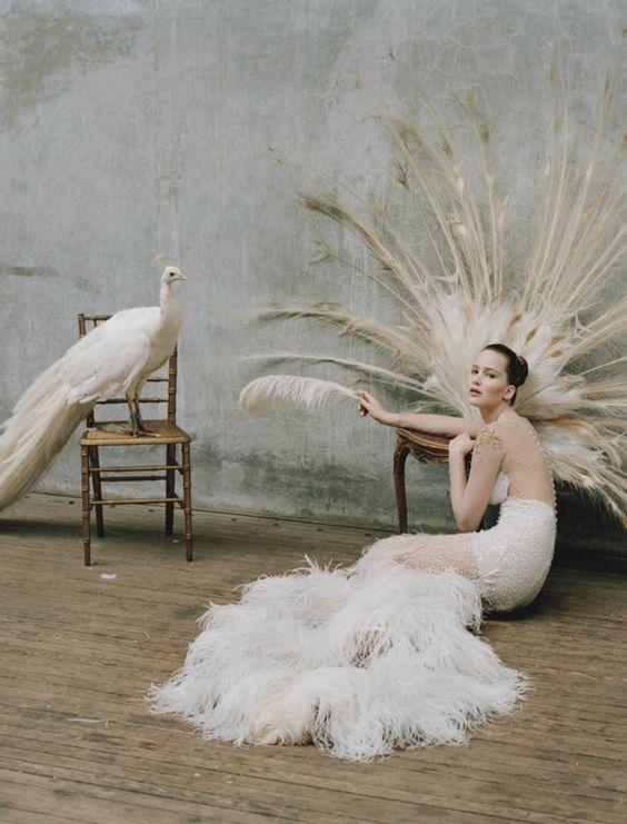 Jennifer Lawrence by Tim Walker  Dress: Prabal Gurung F/W 2012/13  W Magazine October 2012: