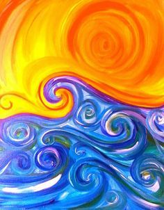 Cool paintings swirls and wine and canvas on pinterest for Cool paintings easy