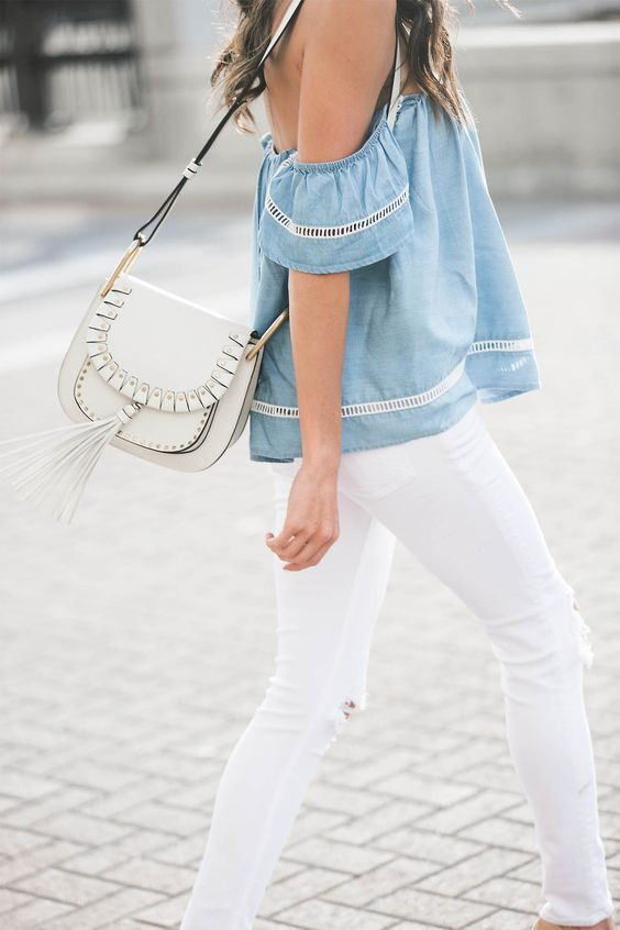 spring 2016 fashion trends off the shoulder top on hello fashion blog