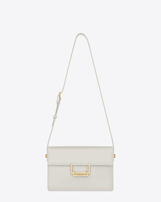 Saint Laurent Classic Medium Lulu Bag In Chalk Leather | ysl.com