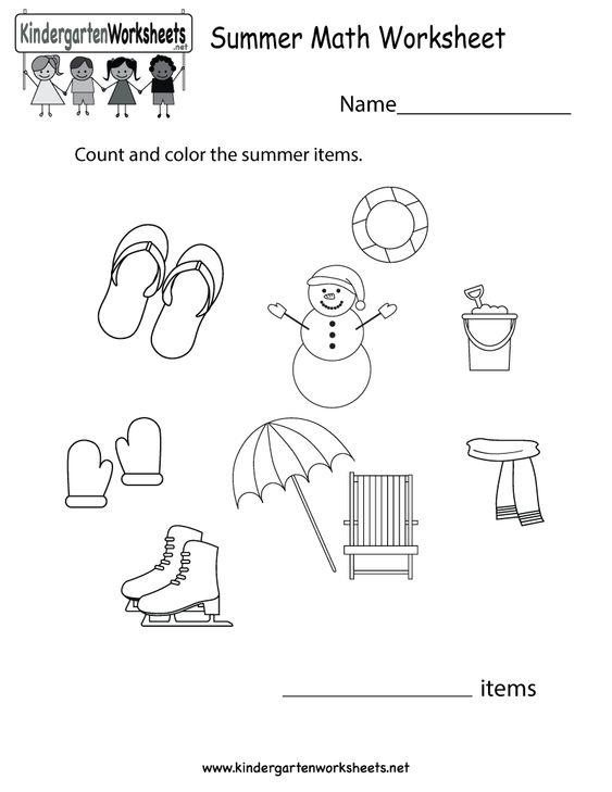 Kindergarten Summer Math Worksheet Printable – Math Worksheet Print Download