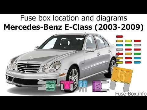 fuse box info - youtube   fuse box, benz e class, benz e  pinterest