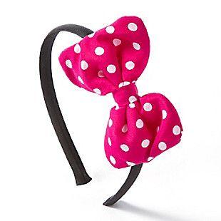 Minnie Mouse Polka Dot Bow Headband