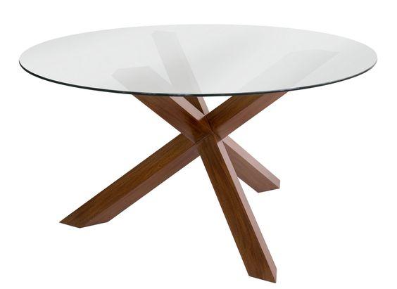 Base mesa redonda nutt material madera de roble base mesa de comedor redonda con pie triple - Bases para mesa de comedor ...