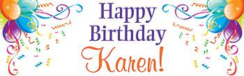 Sparkle Balloons Personalized Banner